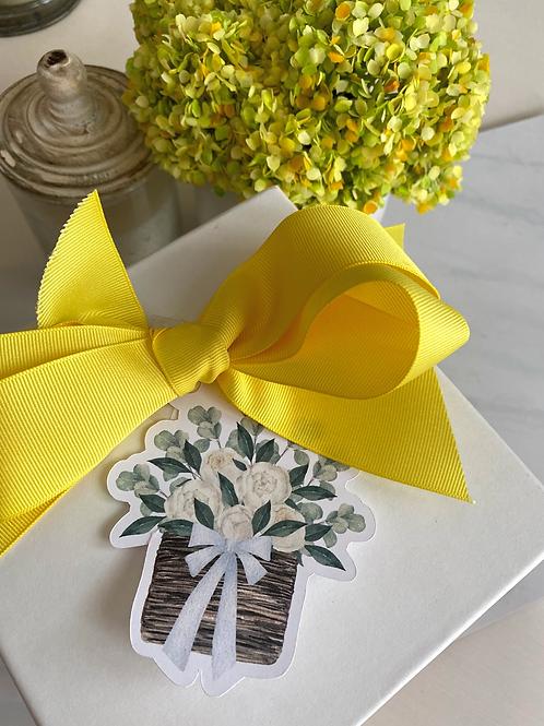 Hang Tags, Die Cut--Flower Basket
