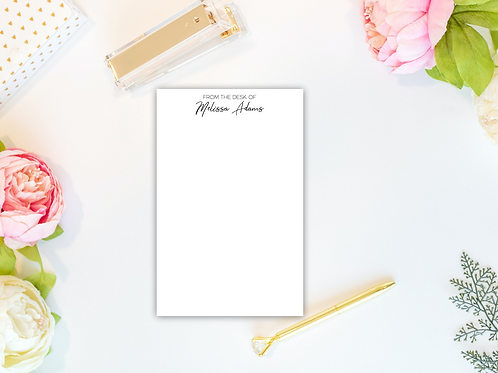 Personalized Notepad-FROM THE DESK OF