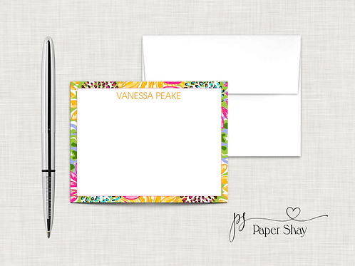Flat Note Cards--Personalized/Sunflowers