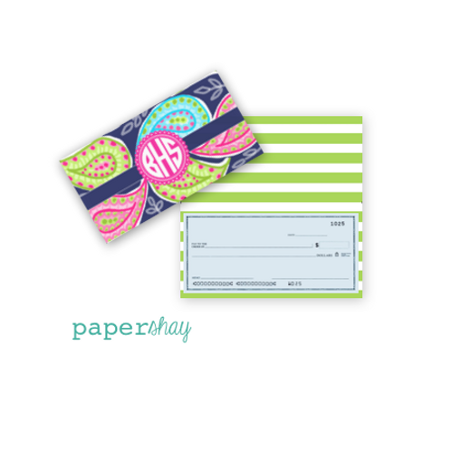 Checkbook Cover-Paisley