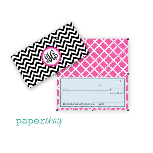 Checkbook Cover-Chevron