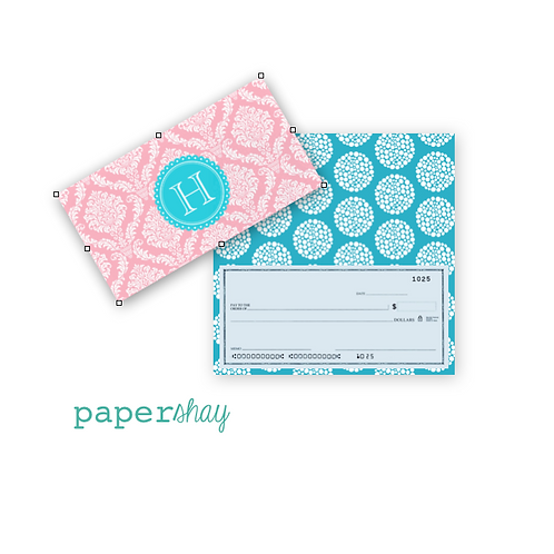 Checkbook Cover-Damask