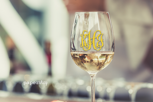 Acrylic Wine Glass--Personalized