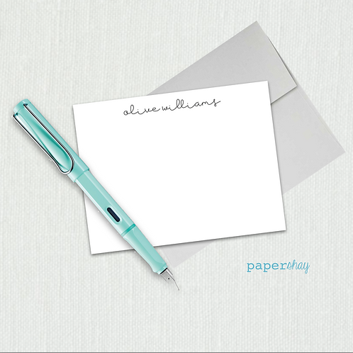 Flat Note Cards--Personalized