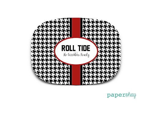 Personalized Melamine Platter ROLL TIDE