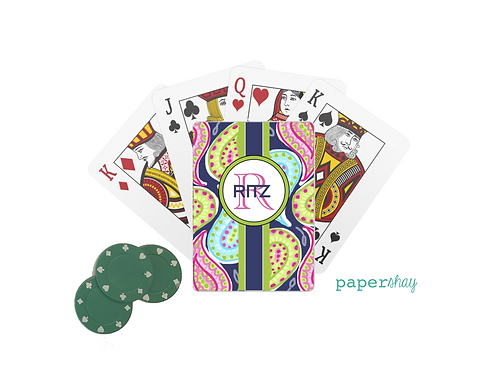 Personalized Poker Cards-Paisley