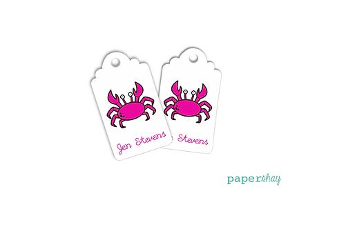 Hang Tags--Hot Pink Crab