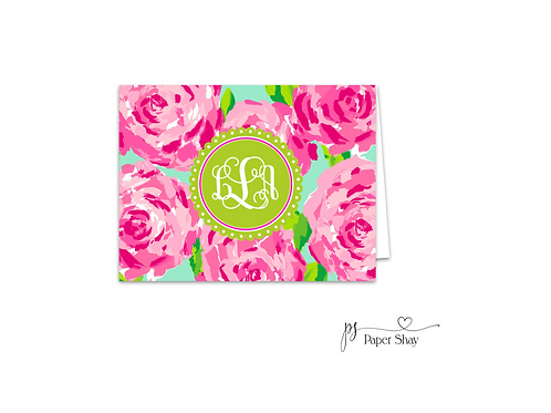 Fold Over Note Cards--Roses