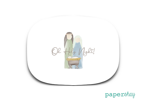 Personalized Melamine Platter Nativity