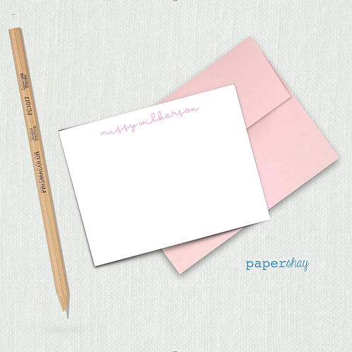 Flat Note Cards--Name