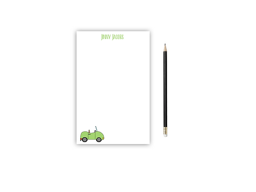 Personalized Notepad CAR