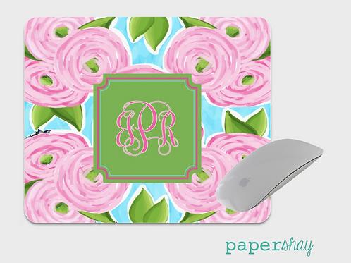 Mousepad-Watercolor Peonys
