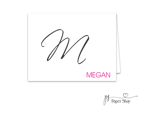 Fold Over Note Cards--Personalized