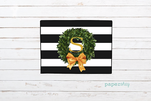 Welcome Mat-Striped Wreath