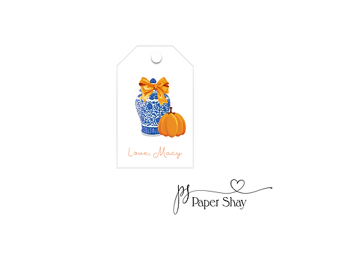 Hang Tags--Pumpkin Fall