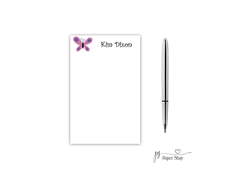 Personalized Notepad  BUTTERFLY