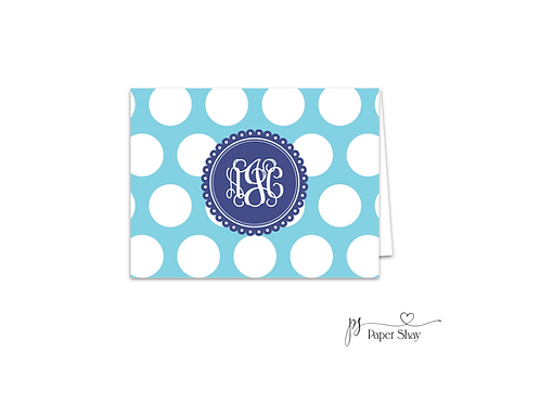 Fold Over Note Cards--Dots