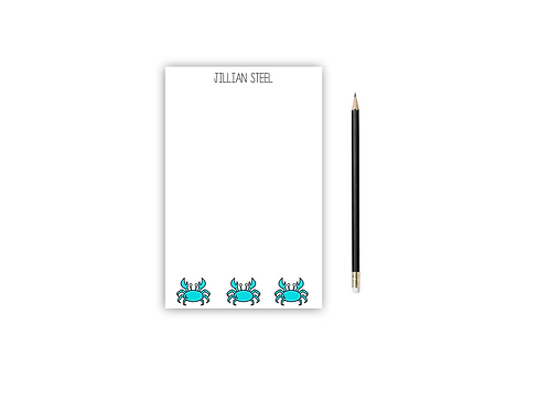 Personalized Notepad CRAB