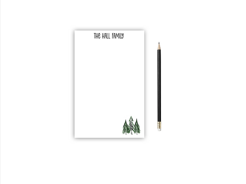 Personalized Notepad PINE TREES