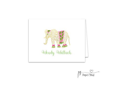 Fold Over Note Cards--Elephant