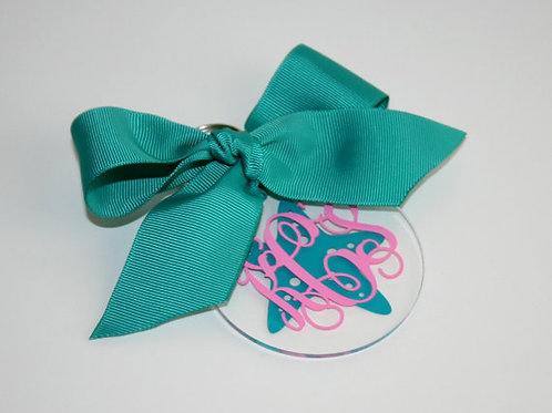 Key Chain Monogrammed--Starfish