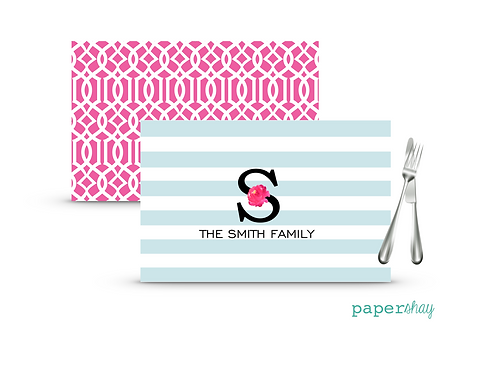 Placemat Laminated--Stripes