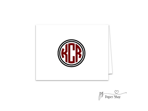 Fold Over Note Cards--Monogram