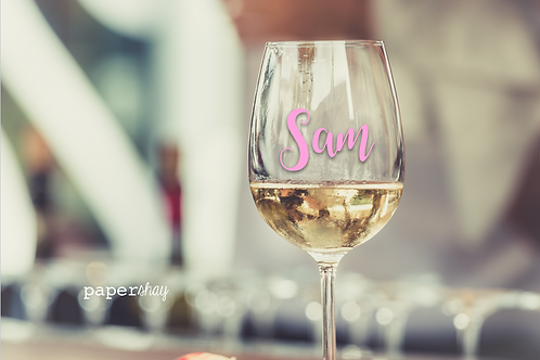 Acrylic Wine Glass--Personalized