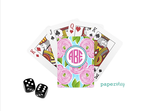 Personalized Poker Cards-Floral