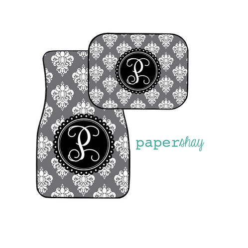 Car Mats Personalized--Damask