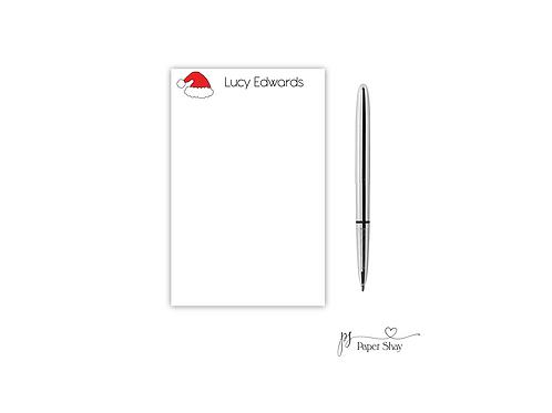 Personalized Notepad SANTA HAT