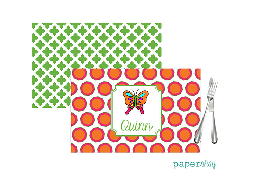 Placemat Laminated--Butterfly