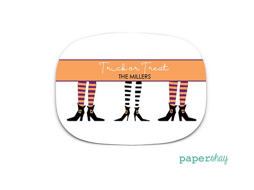 Personalized Melamine Platter  Witches