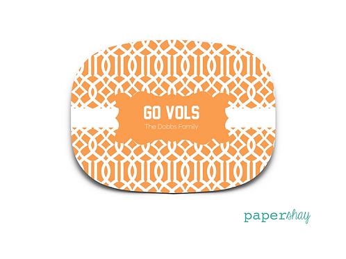 Personalized Melamine Platter GO VOLS