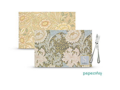 Placemat Laminated--Floral