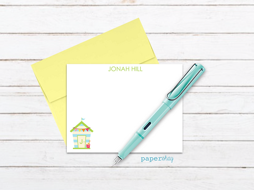 Flat Note Cards--Personalized/Beach House