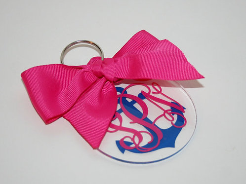 Key Chain Monogrammed--Anchor