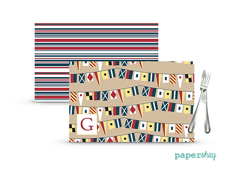 Placemat Laminated--Flags