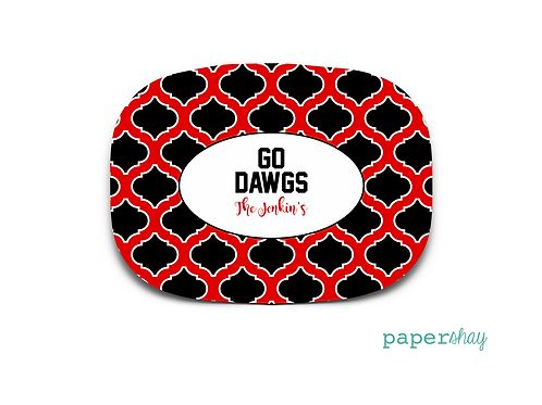 Personalized Melamine Platter Georgia Bulldogs