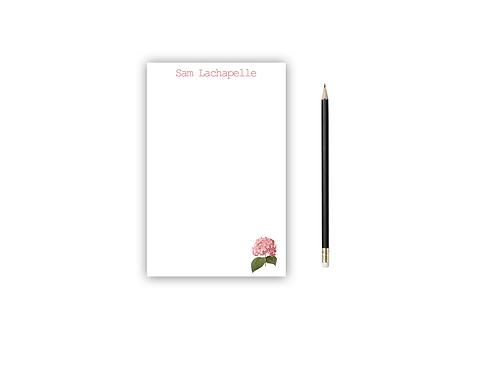 Personalized Notepad HYDRANGEA