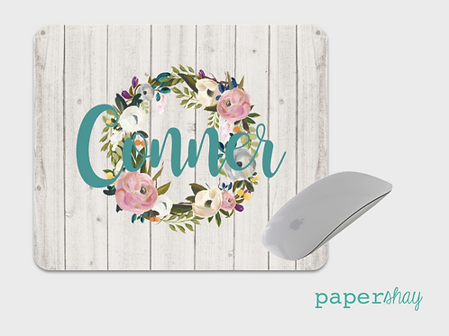 Mousepad-Watercolor Wreath