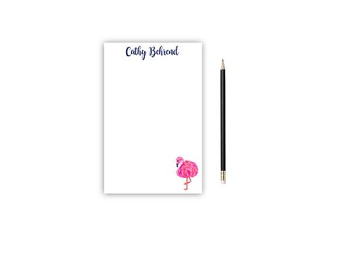 Personalized Notepad FLAMINGO