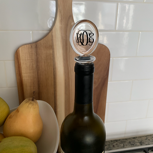 Acrylic Wine Stoppers Monogrammed