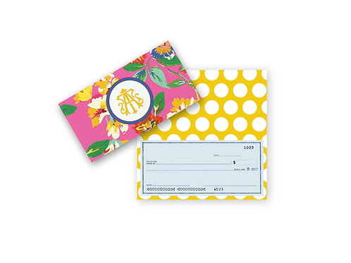 Checkbook Cover-FLORAL