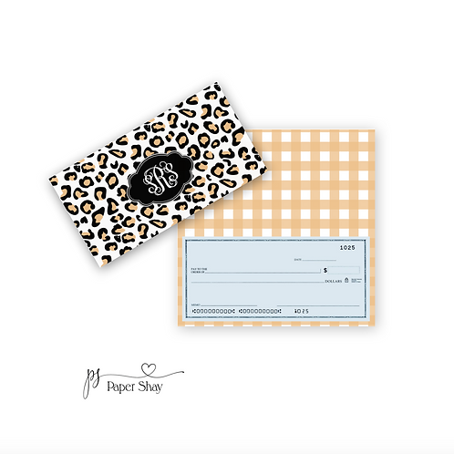 Checkbook Cover-Leopard