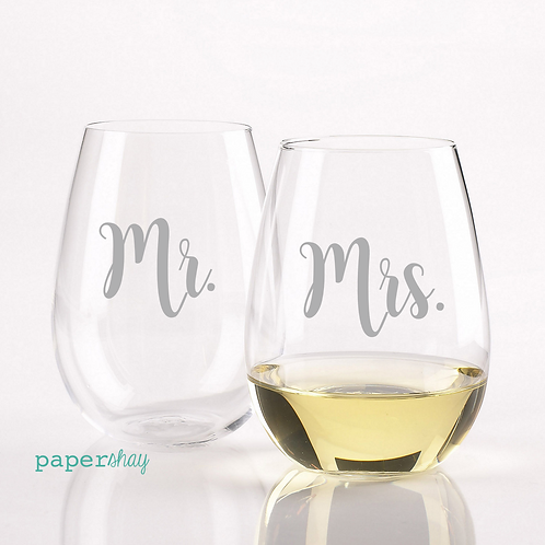 Acrylic Stemless Wine Glass--Personalized