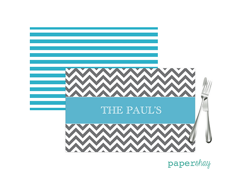 Placemat Laminated--Chevron