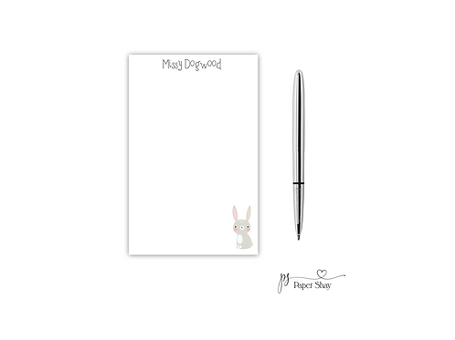 Personalized Notepad  BUNNY
