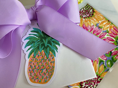 Hang Tags, Die Cut--Pineapple