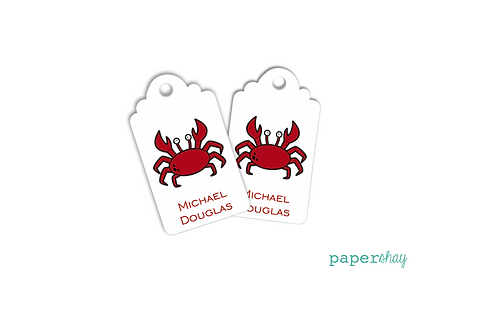 Hang Tags--Red Crab